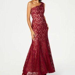 NWT Nightway Lace Overlay Glitter Dress